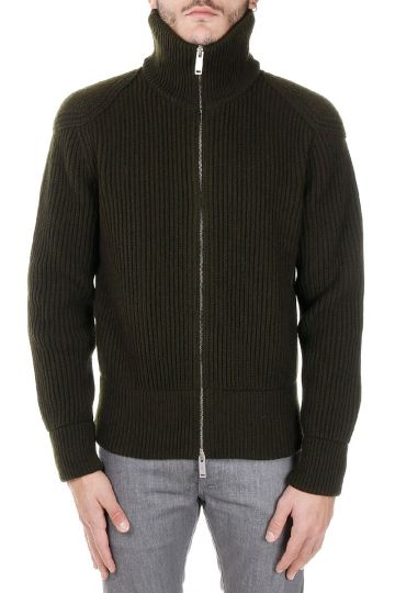 Wool Sweater with Zip