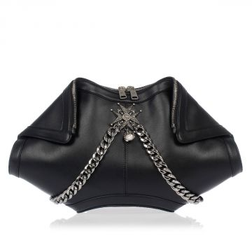 Asymmetrical Leather Clutch