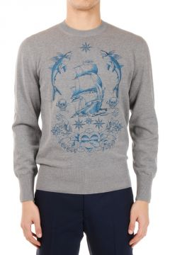 Embroided Cotton Sweater
