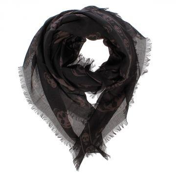 SKULL Mixed Silk Foulard 104 x 120 cm