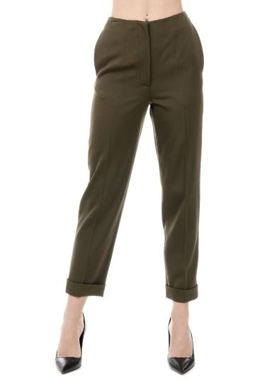 Pantalone con Piega in Lana Vergine