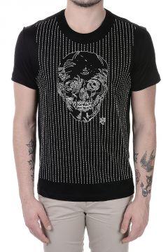 T-Shirt in Jersey di Cotone con Ricamo