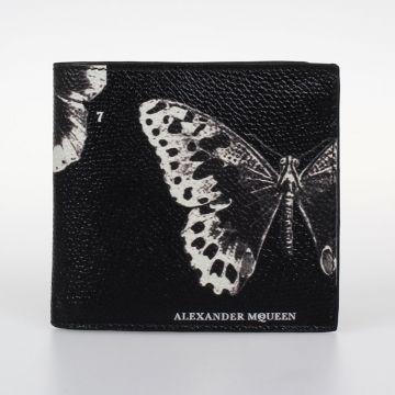 Portafoglio in Pelle Stampa Farfalle