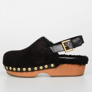 Clogs in Pelle e Shearling