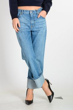 Jeans in Denim Stonewashed 22 cm