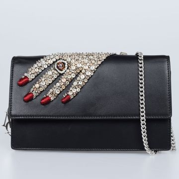 Embroidery Leather Mini Bag