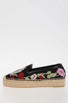 Fabric Embroidery Espadrilles