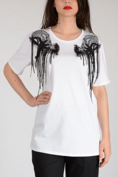 Embroidery and Beads T-shirt