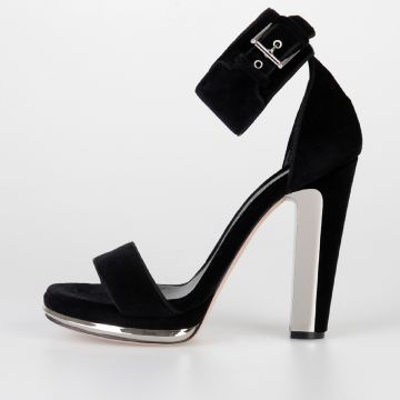 13 cm Velvet Sandals