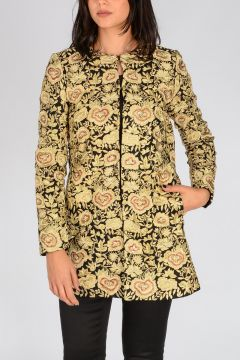 Cappotto in Broccato Floreale