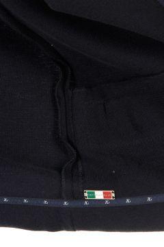 Cardigan in Cashmere-Cotone con Dettagli in Pelle