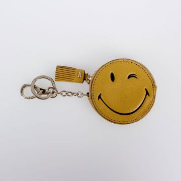 SMILE Grained Leather Coin Purse