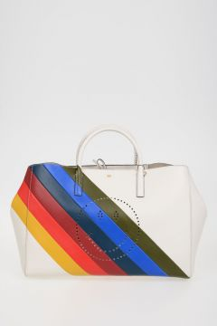 Leather STRIPES RAINBOW SMILEY Bag