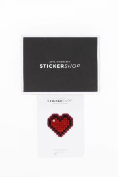STICKERSHOP Sticker HEART IN RED CRYSTALS