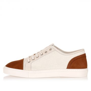 Fabric and Leather Sneakers
