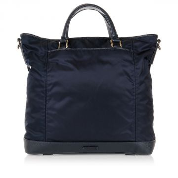 Shopping Bag con Dettagli e Manici in Pelle