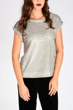 Sequins Embroidery Top