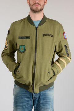 Cotton Embroidered Military Jacket