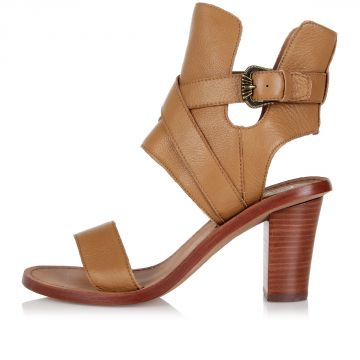 7 cm QUEENIE Leather Heeled sandals