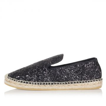 ZOE BIS glitter fabric espadrillas shoes