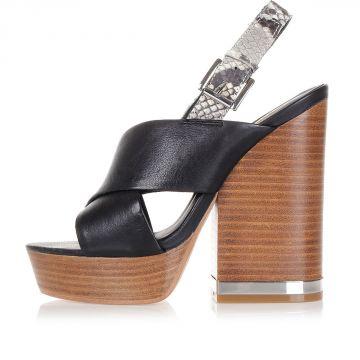 Sandali REBECCA in pelle con tacco 12 cm