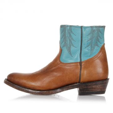 Two Tones KUT Leather Ankle Boots
