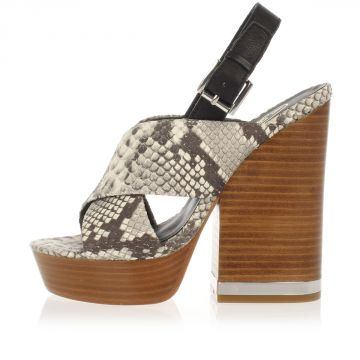 Reptile Wedge REBECCA Sandals