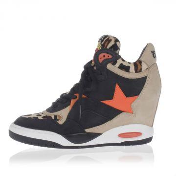 Sneakers BLING BIS con Zeppa interna in Pelle e Cavallino