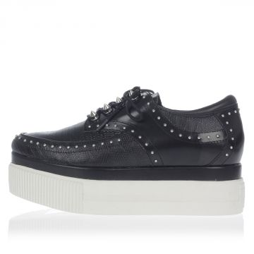 KASH Flatform Studded Leather Shoes
