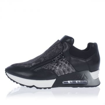 LENNY BIS Leather sneakers with Neoprene Cover