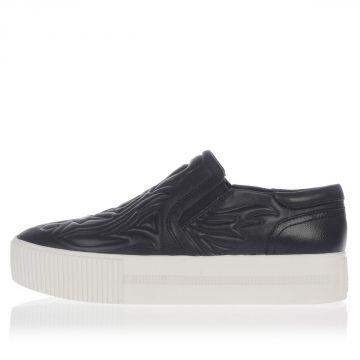 KONG Flatform Leather Slip on Shoes