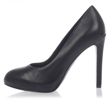 Leather BIANCA Decollete with 12 cm Heel
