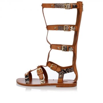 Leather mykonos Sandals Studded