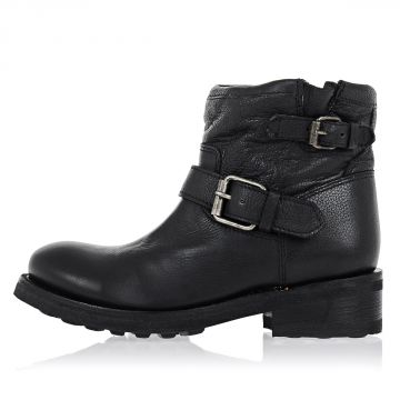 Leather TRICK Ankle Boots