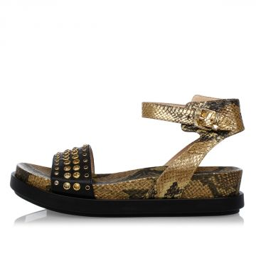 Leather Jewel SUN PYTHON Sandals
