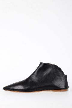 Leather AME Flat Ankle Boots