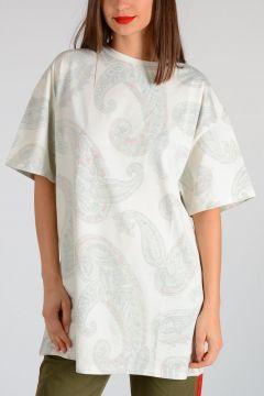 T-shirt OLGA PAISLEY in Jersey di Cotone