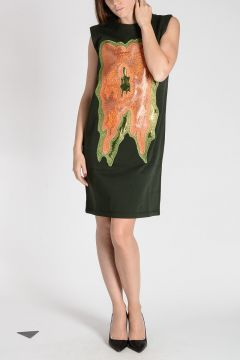 Sweat Dress with Luxer Embroidery