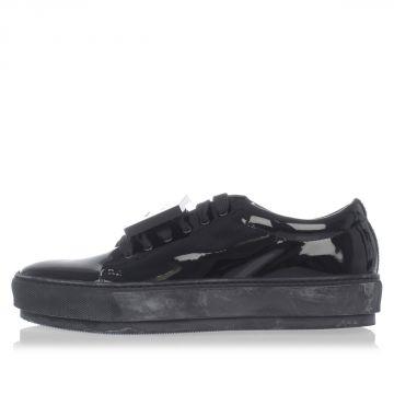 Sneakers ADRIANA PATENT in Pelle con Applicazione Removibile