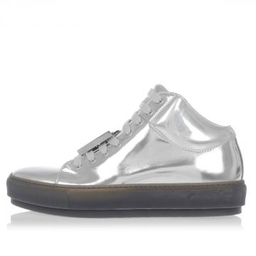 Leather CLEO METALLIC High Sneakers with Removable Details
