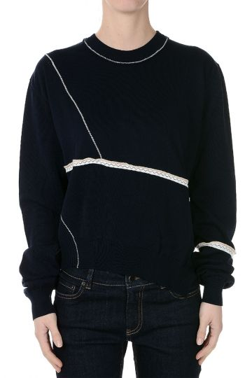 ANYA Embroidered Cotton Sweatshirt