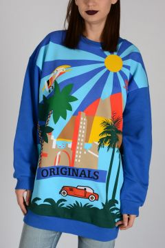 Printed Oversized sweatshirt