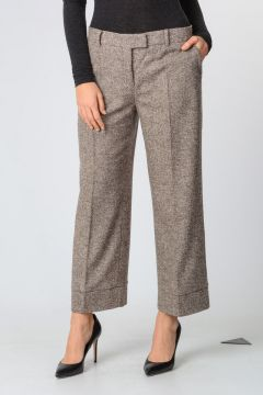 Wool Blend Capri Wide Leg Pants