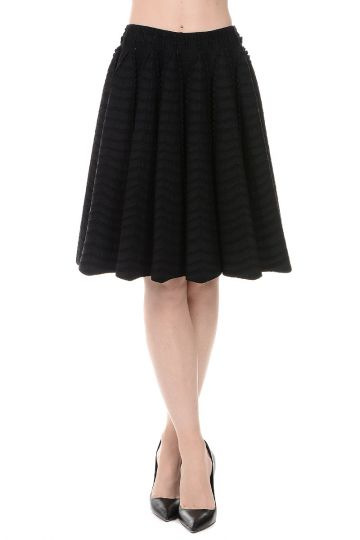 Viscose Blend Paneled Skirt