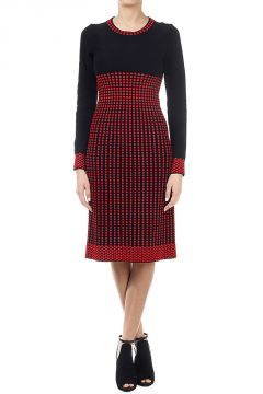 Wool mixed dress