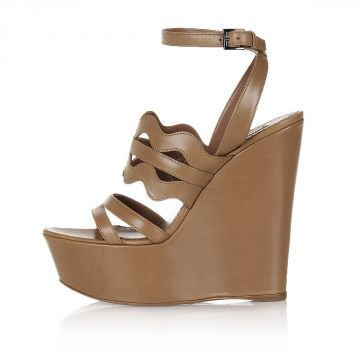 14.5 cm Wedge Leather Sandals