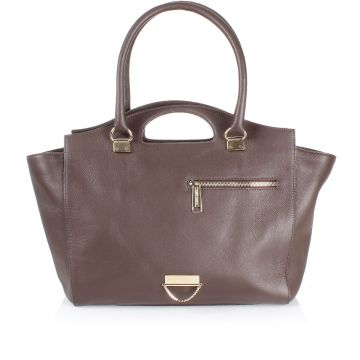 Leather Bag with Logo