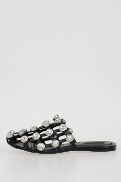 Leather Studded JEWELED AMELIA Sandals