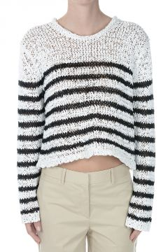 Nylon Blend Knitted Sweater