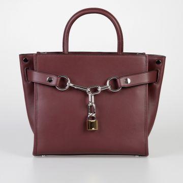 Leather Bag with Chain Detail